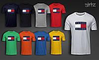 Модная брендовая футболка мужская из хлопка томми хилфигер Tommy Hilfiger