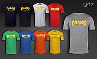 Повседневная молодежная футболка из хлопка трешер Thrasher
