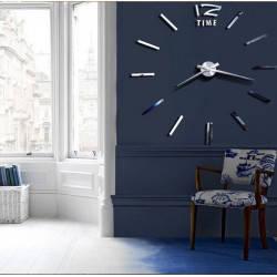 Настенные часы 3D 12 TIME SILVER
