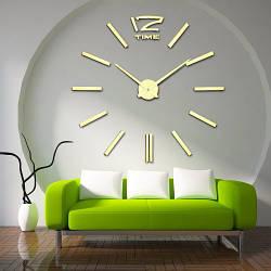 Настенные часы 3D 12 TIME GOLD