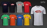 Повседневная скейтерская молодежная футболка ванс Vans