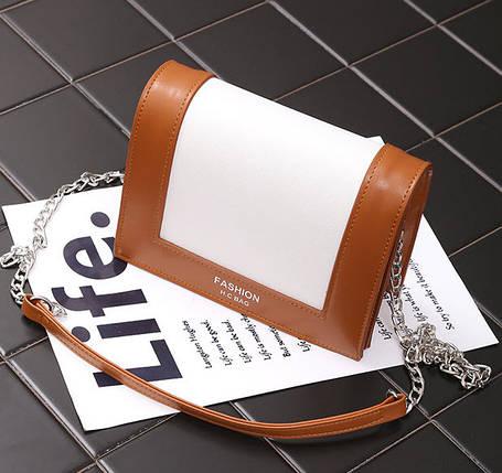 Fashion сумка сундучок для деловых девушек на цепочке-ремешке, фото 2