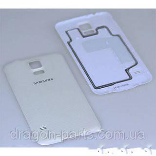 Задня кришка Samsung G900H Galaxy S5 білий/white , оригінал GH98-32016A, фото 2