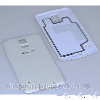 Задняя крышка Samsung G900H Galaxy S5 белая/white , оригинал GH98-32016A, фото 2