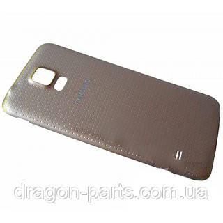 Задняя крышка Samsung G900H Galaxy S5 золотая/gold , оригинал GH98-32016D