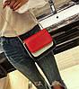 Модная двухцветная сумка-сундучок на цепочке, фото 4