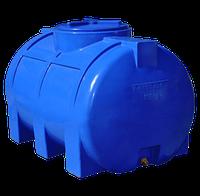 Емкость 350 литров двухслойная горизонтальная Рото Европласт