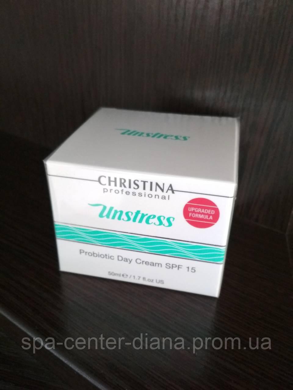 Unstress Pro-Biotic Day Cream SPF-15 Дневной крем с пробиотическим действием
