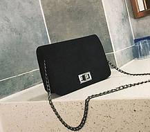 Вельветовая Fashion сумка сундучок на цепочке, фото 3