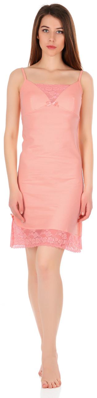 Нічна сорочка персикового кольору 0176
