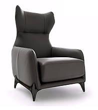 Кресло с ушками и высокой спинкой DUFFLÉ фабрика Ditre Italia (Италия)