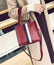 Модная аккуратная сумка на каждый день, с помпоном, фото 3