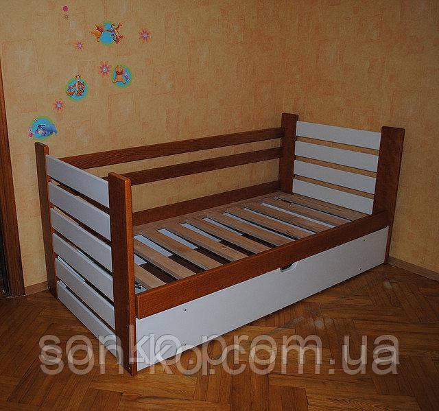 Дитяче ліжко з масиву бук Марко з П/М у двох кольорах