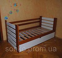 Ліжко односпальне з масиву бук Марко з П/М у двох кольорах
