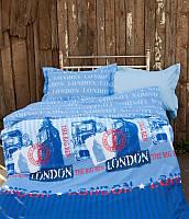 Постельное белье для подростков Lotus Premium B&G Slang голубой полуторный размер