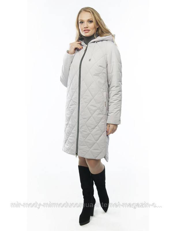 Демисезонное пальто «Лора» пудра с 48 по 58 размер wayk
