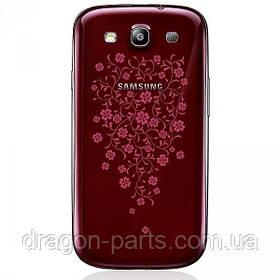 Задняя крышка Samsung I9300 Galaxy S3 Garnet Red La Fleur , оригинал GH98-25943C