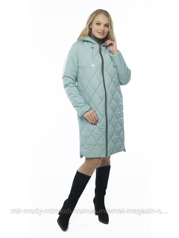 Демисезонное пальто «Лора» шалфей с 48 по 58 размер wayk