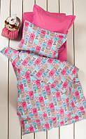 Постельное белье для подростков Lotus Premium B&G Sweetie розовый полуторный размер