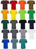 Однотонные трикотажные футболки