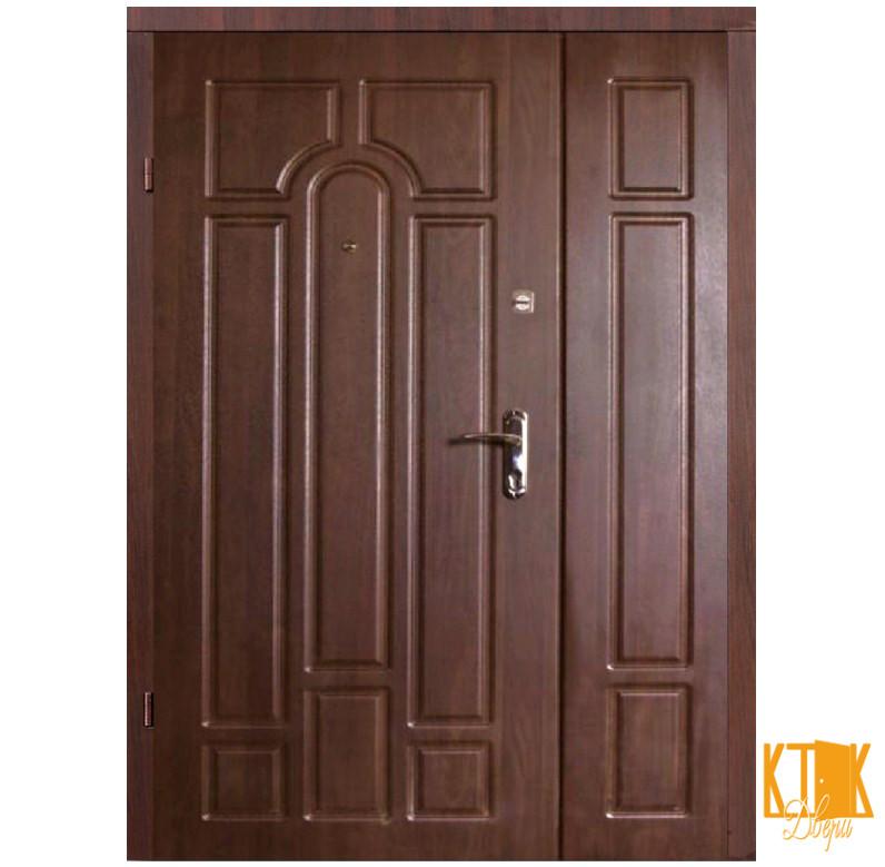 """Входные двери на улицу Классик(2050*1200) серии """"Премиум"""" (орех коньячный)"""