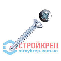 Саморез оконный по металлу со сверлом с насечками БЦ, 3,9х16