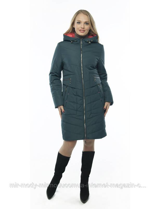 Демисезонное пальто «Ирма» волна с 50 по 60 размер wayk
