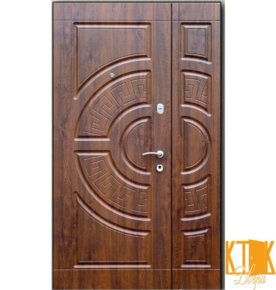 """Входные двери на улицу Греция(2050*1200) серии """"Премиум"""" (дуб коньячный)"""