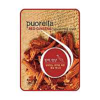 Тканевая маска с красным женьшенем Baroness Puorella Red Ginseng Natural Mask Sheet