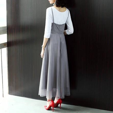 Женский костюм топ трикотаж и платье фатин на подкладке, фото 2