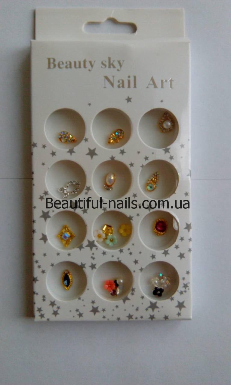 Набор объемных украшений для ногтей