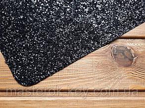 Ткань с крупным глиттером Италия цвет черный