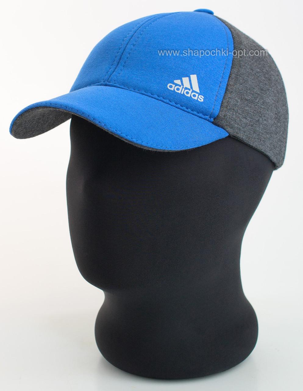 Двухцветная бейсболка c логотипом Adidas электрик+темно-серый, Сахара шестиклинка комби