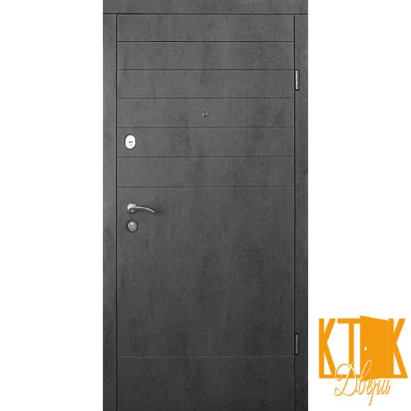 """Вхідні двері в квартиру Стелла серії """"Стандарт"""" (бетон темний)"""