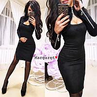 """Женское платье (черный) """"Margaret""""  S и M"""
