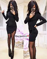 """Женское платье с брошью (черный) """"Margaret""""  S и M"""