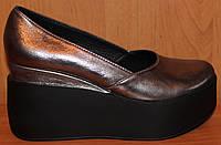 Туфли женские кожаные на платформе, кожаные туфли женские от производителя модель  Е700