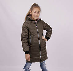Детская демисезонная куртка для девочки 1808, 140-164, фото 3