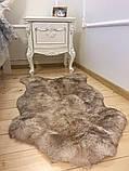 Шкура овечья натуральная пепельная, размер 110х70, фото 3