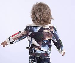 Дублянка дитячий демісезонний для хлопчика 40016, на зростання 98-128, фото 3