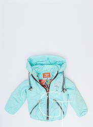Детская демисезонная куртка-трансформер  для девочки 31099-7, 104-128