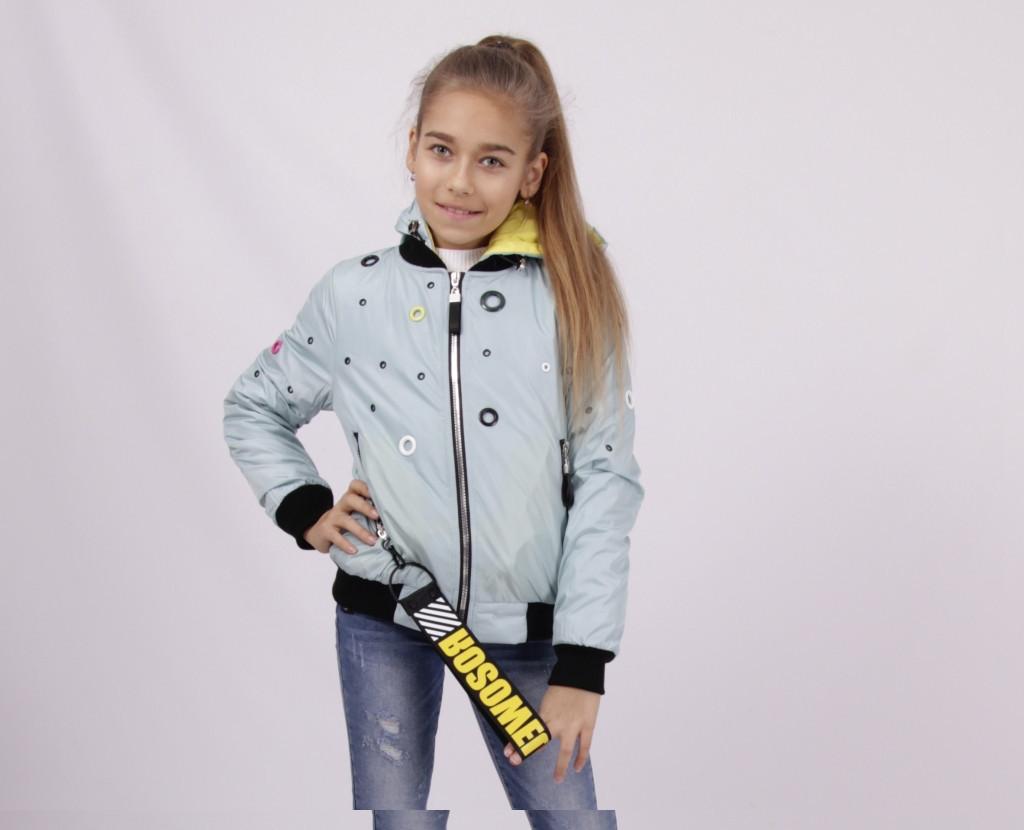 Детская демисезонная куртка для девочки 1806, размеры 134-158
