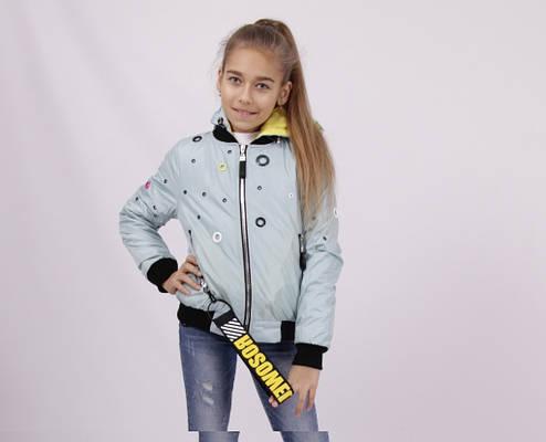 Детская демисезонная куртка для девочки 1806, размеры 134-158, фото 2