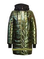 Детское демисезонное пальто для девочки золото от Anernuo18131, размеры 130-170