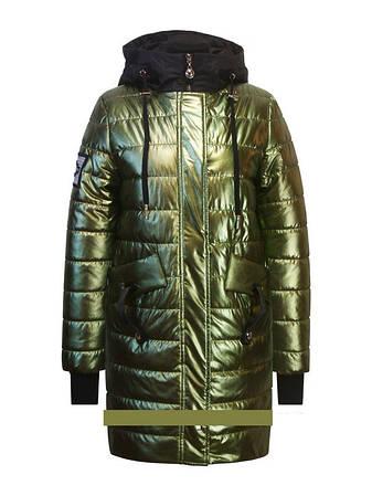 Детское демисезонное пальто для девочки золото от Anernuo18131, размеры 160-170, фото 2