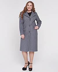 Пальто женское демисезонное батал 1303, 46-58
