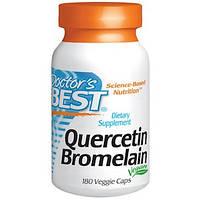 Doctor's s Best, Кверцетин і Бромелаін, 180 капсул