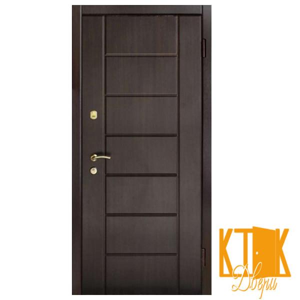 """Вулична двері Канзас серії """"Преміум"""" (венге темний)"""