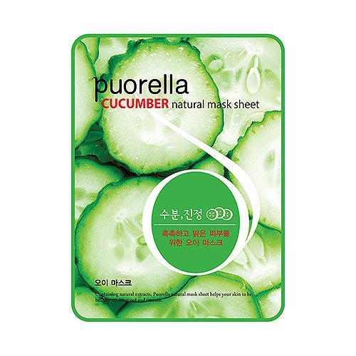 Тканевая маска для лица с огурцом Baroness Puorella Cucumber Natural Mask Sheet