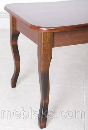 Стол журнальный деревянный «Покер-2» для гостиной орех Модуль Люкс, фото 2